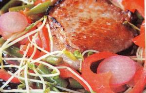 Свинина со стручковой фасолью ( по азиатски)